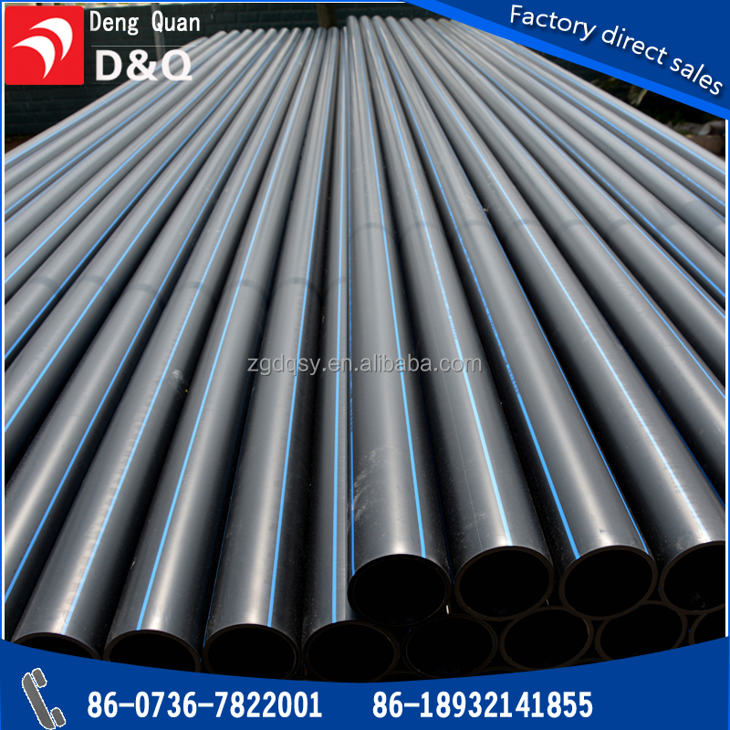ISO4427 HDPE PE 100 water drainage pipes and fittings made of HDPE material for construction