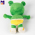 Custom stuffed frog plush toy plush frog toy