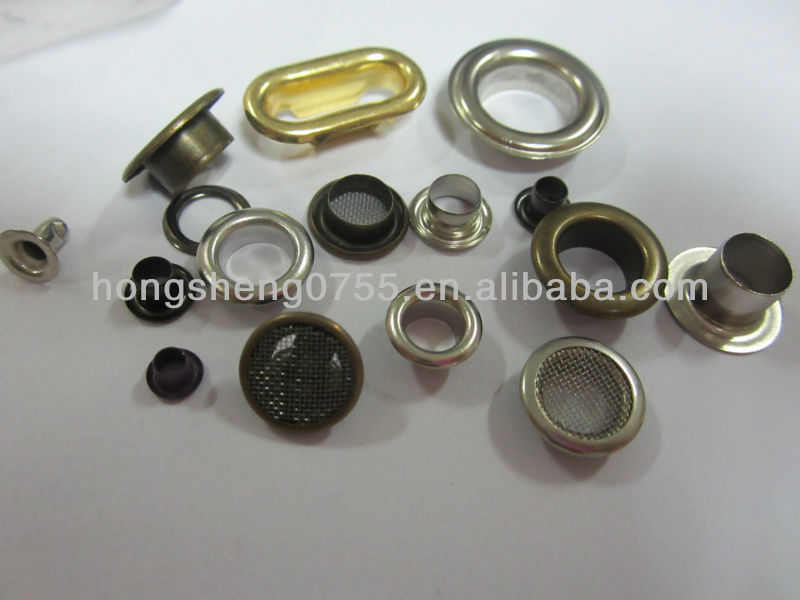 manufacturing various sizes cheap eyelets and rivets for shoes