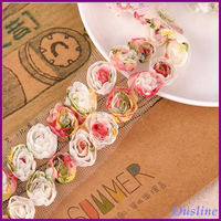 newest colorful 3d rose lace trim, multicolor guipure lace trim