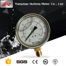 60mm 16Mpa high quality glycerine or silicone oil filled water manometer kl.1.6 pressure gauge