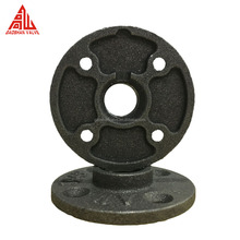 1/2'' 3/4'' 1'' BSP Black Malleable Iron Pipe Fittings Threaded Floor Flange
