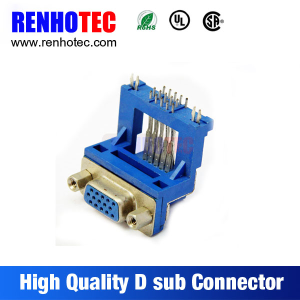 Hight Quality Right Angle Vga 15Pin Female D SUB Connector