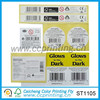 black label price barcode label paper sticker design