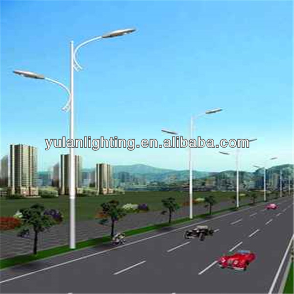 YL-23-0876 3m-12m 110kv steel power poles/steel pole anchor/single pole stainless steel swing barrier gate