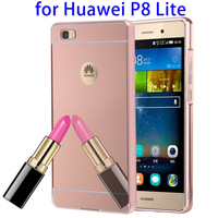 Amazon Top Selling Electroplating Mirror Case for Huawei P8 Lite Mobile Phone Case