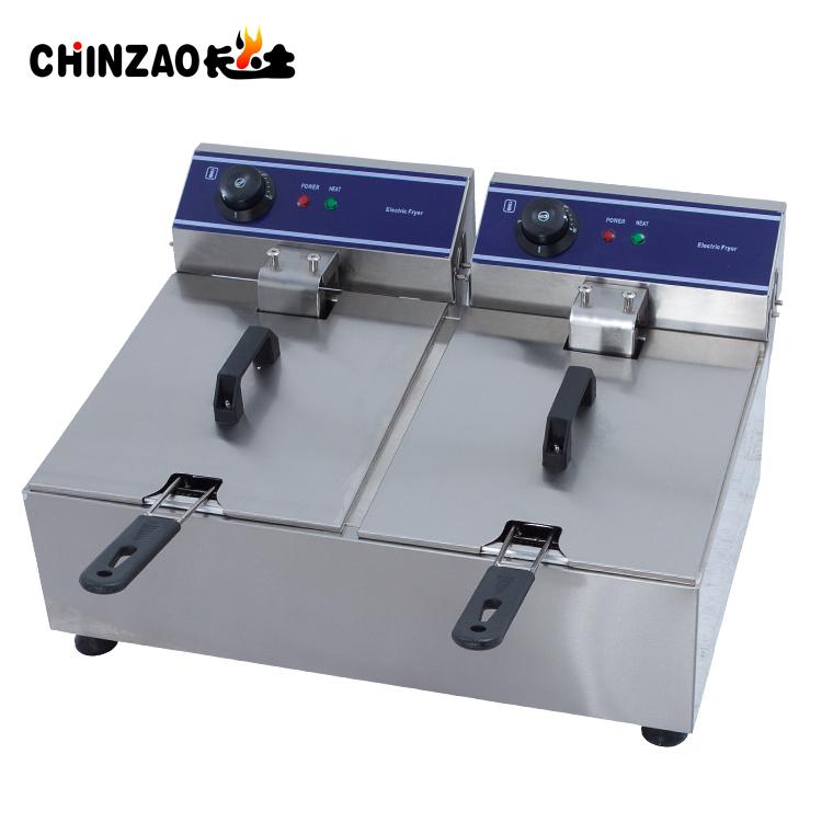 Double Tanks Countertop Electric Deep Fryer Industrial Fryer For Frying