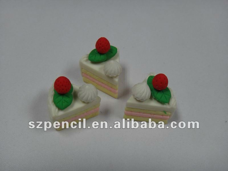 Cute toy for kids gifts eraser, cake shaped erasers