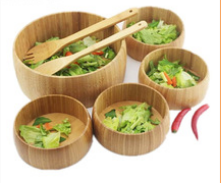 Bamboo salad bowl dish dried fruit bowls bamboo suit