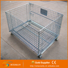Industry wire mesh collapsible cage with support frame