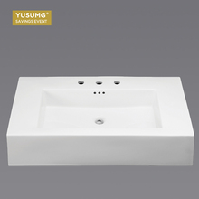 Sanitary Ware Rectangle Ceramic Bathroom Sink Wash Basin