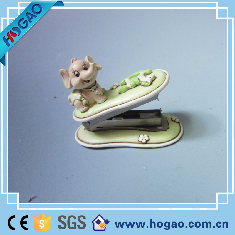 Resin Elephant Stapler Stationery Figurine Office Decor