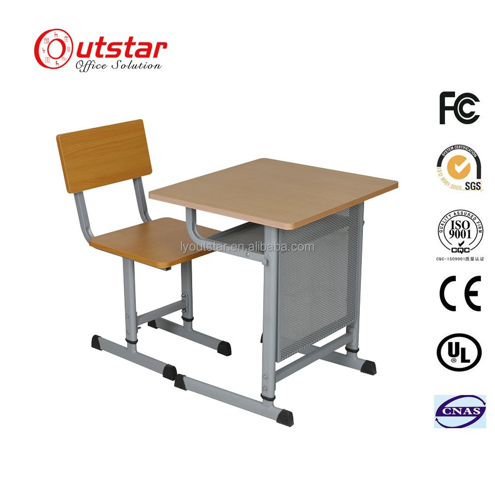 School Furniture Used High School Classroom Single combo school desk and chair