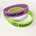 silicone wristband code camp bracelets deboss color filled