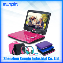 10 Inch Portable DVD Player with USB Port, Single Screen DVD Player support AV Function