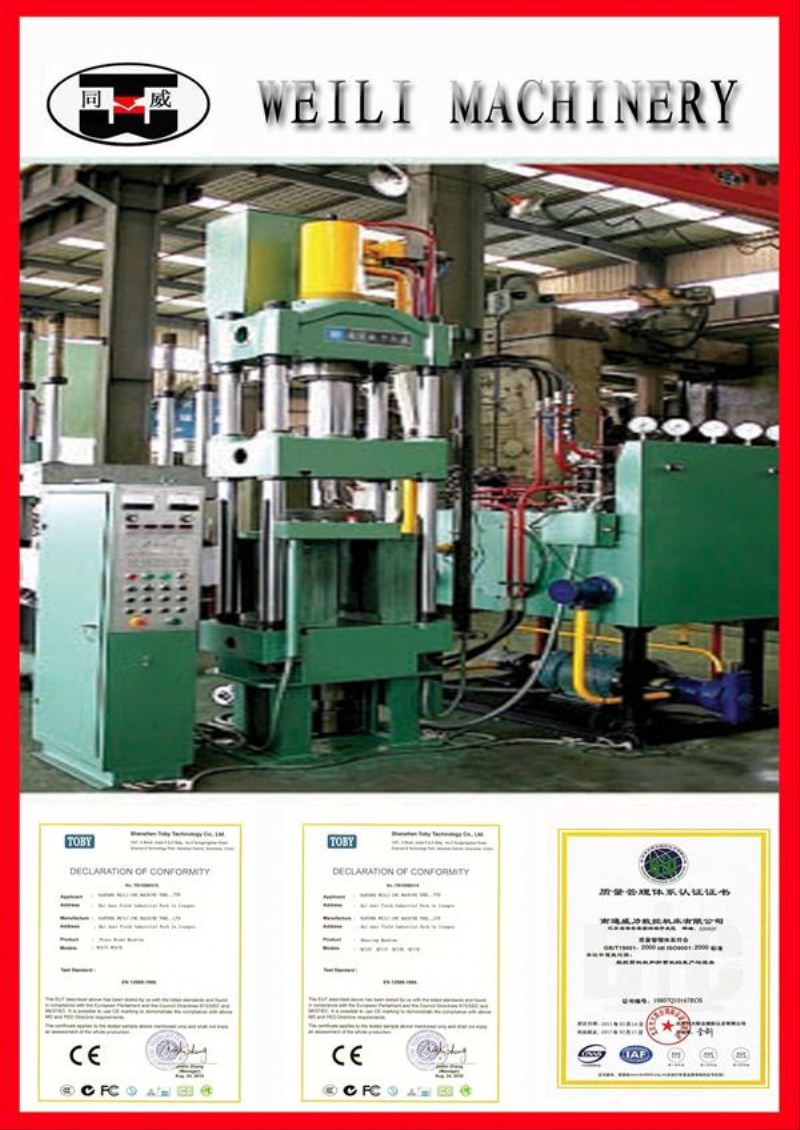 WEILI MACHINERY Top Quality Four Column reviting hydraulic