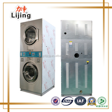 Double stack washer and dryer, double stack washing machine, stack washer dryer