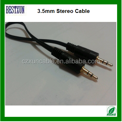 Changzhou 3.5mm Stereo audio Cable 30CM Gold