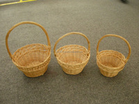 high quality round wicker flower basket