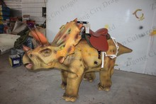 Nice looking walking triceratops dinosaur ride in Caton Fair