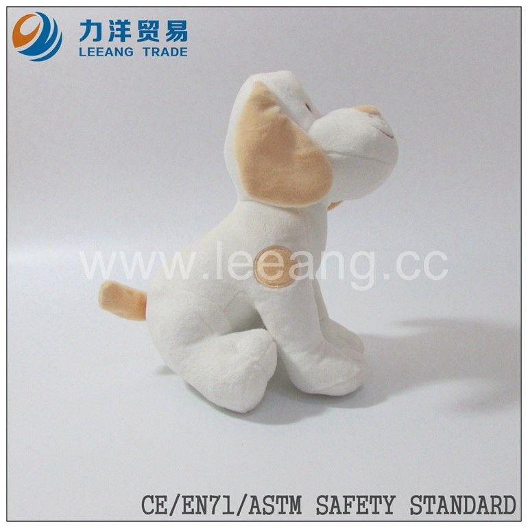 promotional plush dog medium size stuffed toy many color different size,CE/ASTM safety stardard