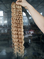 Indian Remy Double Wefted Human Hair Weaving Deep Wave Curly Weft Hair Extensions