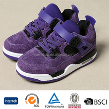wholesale good quality low price oem design kids boys leather indoor basketball sports shoes