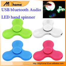 NEW USB Bluetooth Audio LED hand spinner Fidget spinner with music, USB charge LED spinner toys