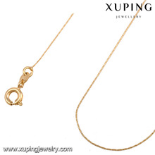 42963 -Xuping Simple style Gold Chain jwelleries necklace women