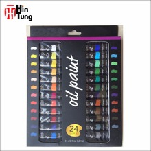 Free Sample High quality non toxic 24pcs 12ml Oil based Artist Oil Paint Set