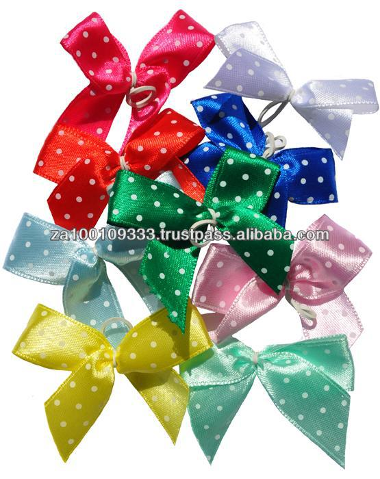 Polkadot Hair Bows for dogs - 100 pcs canister