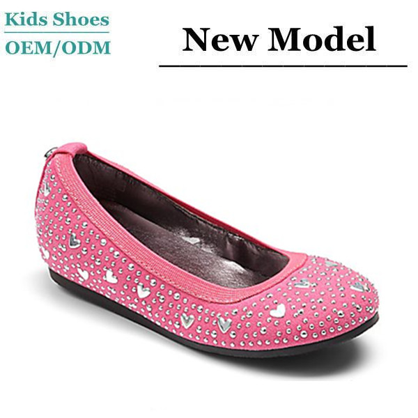 Glitter little star soft leather folded ballet shoes fashion girls boat shoes
