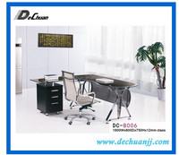 Fancy Double Sided Steel Office Desk With Drawers