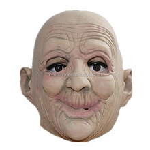 X-MERRY Rubber Latex Old Man Mask Realistic Human Face Mask Adult Party Costume Mask