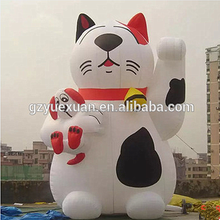 Giant outdoor decoration inflatable lucky cat, inflatable cat model for advertising promotion