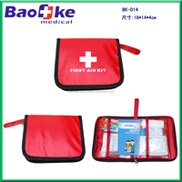 Square book shape mini first aid pouch for day trip travelling