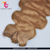 Wholesale direct 100% human hair weft remy Amazing color Double drawn hair extension