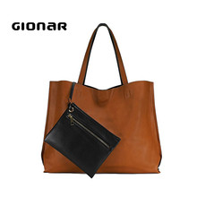 Designer Black Tan Large Shopping Tote Italian Leather Ladies Purses and Wallets with Zipper