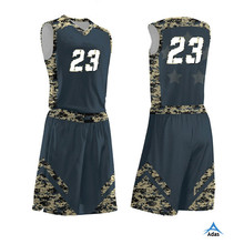 most popular cheap custom design camo printing basketball uniform