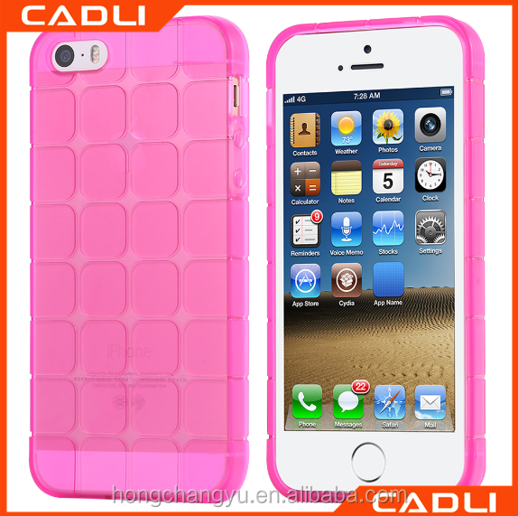 2016 new Ultra thin Rubik's cube 3d soft tpu silicone mobile phone case for iphone 5 se