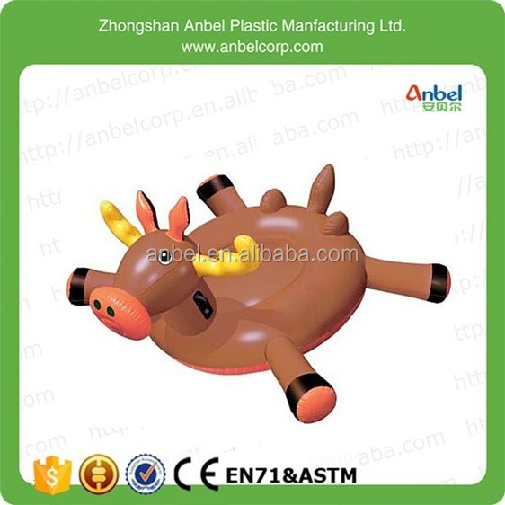New Children Giant Rideable Moose inflatable Swimming Pool Floating Toys