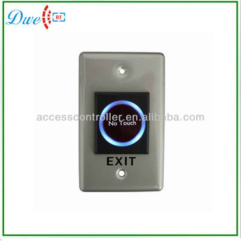No touch IR Infrared push button door exit button switch with NO/NC/COM
