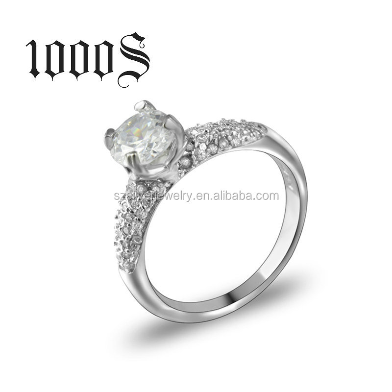 Latest Wedding Ring Designs 925 Italian Silver Ring Sterling Engagement Jewelry