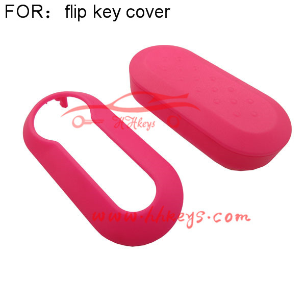 Cheap Price nice Used flip Silicone Car Key Protective cover for Fiat 500