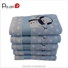 cotton towel Snowman pattern printing face hand christmas towel