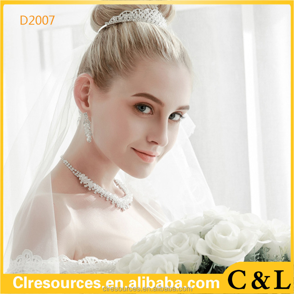 New Fashion Cute Rhinestone Princess Girls Crystal hair accessories Wedding Crown Headband Tiara