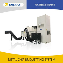 Top quality metal shavings compactor with UK brand and small briquette machine