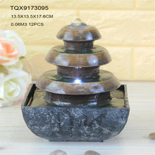 Garden decor three layer resin pot cover shape outdoor water fountain