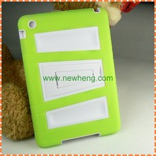 new arrival double color TPU+PC case with stand for ipad mini