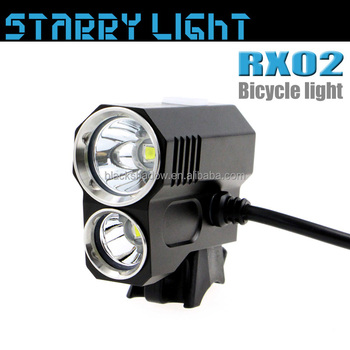 StarryLight RX02 CE & RoHS certified waterproof rechargeable xml2 u2 led bicycle light